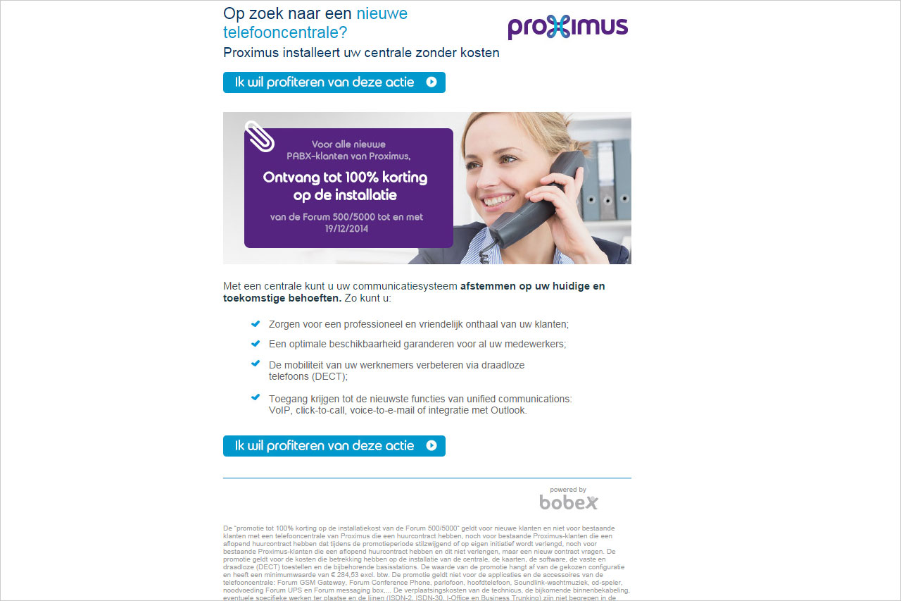 Newsletter Proximus