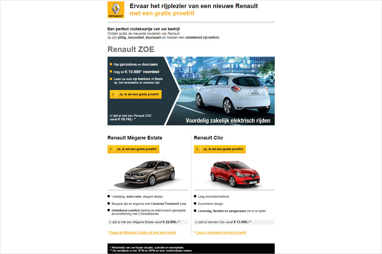 Newsletter Renault Zoë
