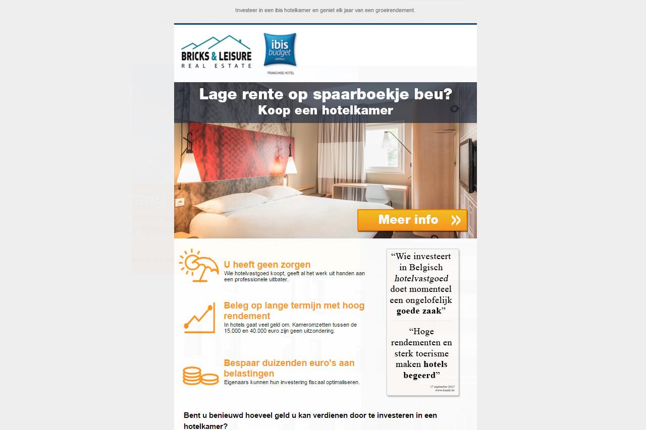 Investeer in een hotelkamer